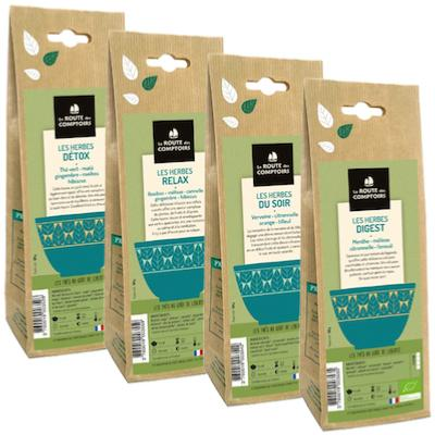 Pack Éco Infusions Bio  - 4 Sachets