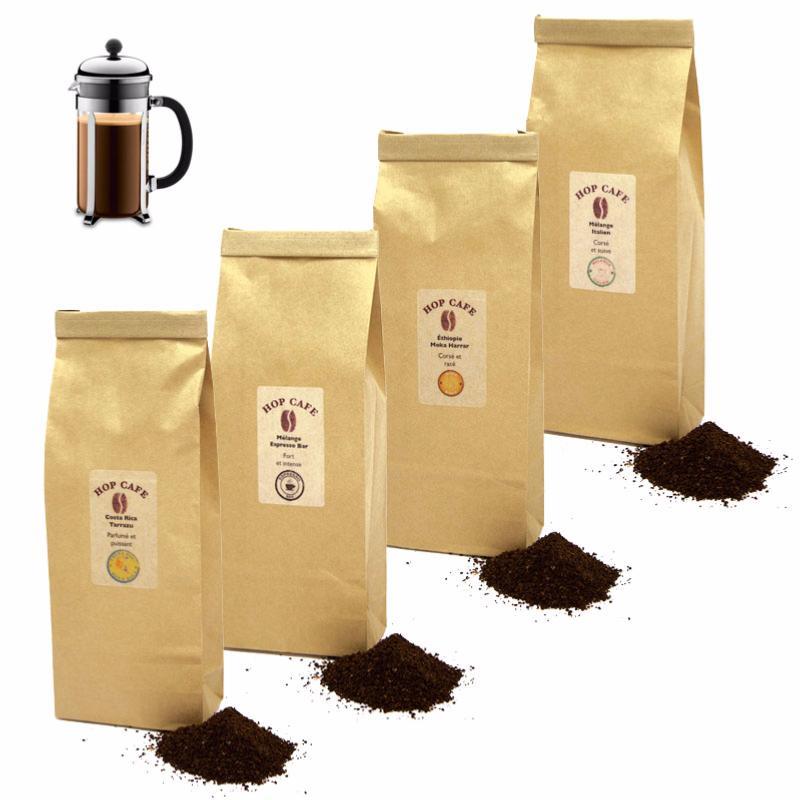 Caf moulu cors pour cafeti re piston hop caf - Quel cafe pour cafetiere a piston ...