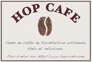 Affiche Hop Café avec adresse du site