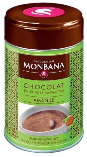 chocolat en poudre aromatis amande de monbana. Black Bedroom Furniture Sets. Home Design Ideas